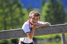 Free Cute Boy With Cheeky Smile Stock Photos - 6731053