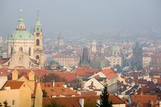 Free Prague Foggy View Stock Photography - 6731192
