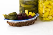 Free Jars Of Pickles..... Stock Photography - 6731362