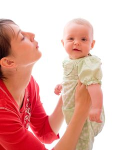 Free Baby With Mom Stock Image - 6731781