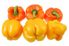 Free Yellow And Orange Peppers Royalty Free Stock Photography - 6732327
