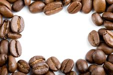 Free Frame Of Coffee Beans Isolated Stock Photo - 6732480