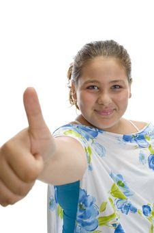Free Girl Wishing Good Luck Stock Photos - 6732683