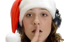 Free Woman Instructing To Keep Silent Royalty Free Stock Photo - 6732685
