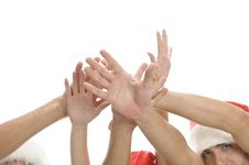 Raised Hands Of People Stock Photos