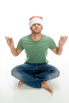 Free Man Doing Meditation Royalty Free Stock Photos - 6732728