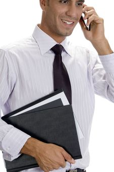 Successful Businessman Busy On Phone Call Stock Photography