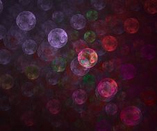 Fractal Image Of Colored Bubbles Royalty Free Stock Image