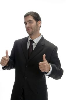 Free Businessman Wishing Good Luck Royalty Free Stock Image - 6732996
