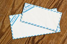 Free Old Airmail Envelopes Over Wood. Stock Photo - 6733620