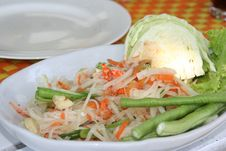 Tasty Thai Papaya Salad Royalty Free Stock Images