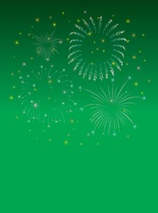 Free New Year Firework Green Royalty Free Stock Images - 6734569
