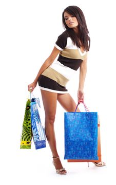 Free Happy Shopping Girl Stock Photo - 6734720