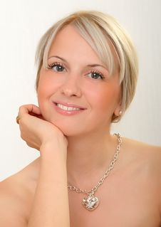 Free Beautiful Blond Female Smiling Stock Image - 6735151