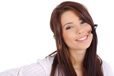 Free Customer Support Girl Royalty Free Stock Photography - 6735267