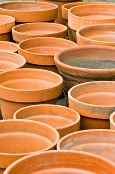 Clay Garden Pots Royalty Free Stock Photo