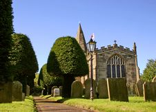 Free Chruch And Graveyard Royalty Free Stock Image - 6735706