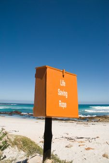 Free Life Saving Rope Box On The Beach Stock Photo - 6735830