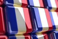 Free French Flag-cube Stock Photography - 6735832