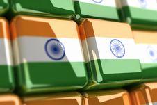 Free Indian Flag-cube Stock Photos - 6735833