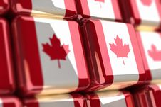Canadian Flag-cube Royalty Free Stock Photos