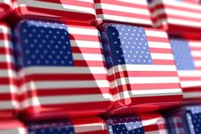 Free American Flag Cubes Stock Photos - 6735843