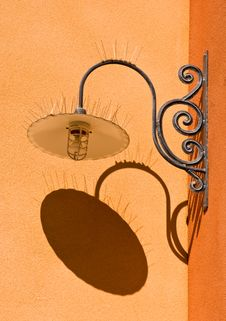 Free Ornate Light Fixture And Shadow Royalty Free Stock Photography - 6736247