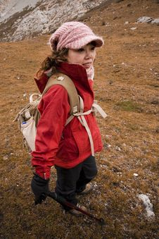 Female Mountain Climber Royalty Free Stock Photos