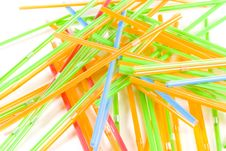 Bunch Of Multicolored Straws Stock Photos