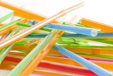 Free Bunch Of Multicolored Straws Stock Photo - 6736790