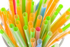 Bunch Of Multicolored Straws Royalty Free Stock Photo