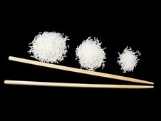 Free Three Portions Of Rice Stock Photography - 6736962