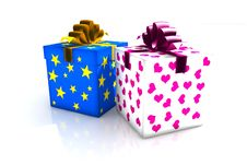 Free Christmas Gift Box Stock Images - 6737164