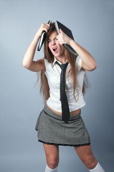Emotional Student Girl Stock Photos