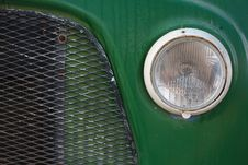 Free Green Vintage Car Closeup Royalty Free Stock Photo - 6738075