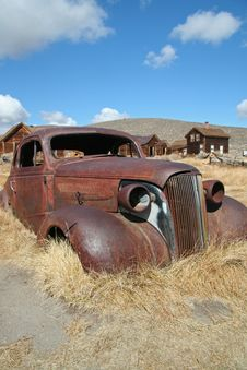 Free Rusted Car At Bodie Royalty Free Stock Photography - 6738367