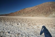 Free Photographer Shadow At Death Valley Stock Photography - 6738412