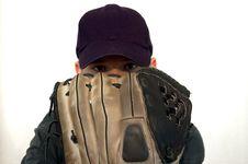 Baseball Player Glaring At The Batter