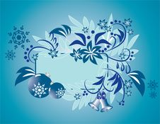 Christmas Blue  Balls Royalty Free Stock Image