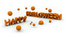 Happy Halloween Text With Jumping Pumpkins Stock Photos