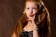 Free Cute Capritious Little Girl Stock Images - 6739494