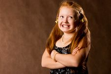 Free Confident Smiling Little Girl Royalty Free Stock Photography - 6739617