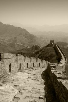 Free Walking On The Great Wall Stock Photos - 6739653