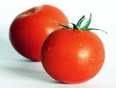 Free Two Tomatoes Royalty Free Stock Image - 6739786