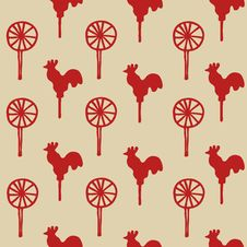 Free Seamless Pattern Cock Lollipop Royalty Free Stock Photography - 67368207