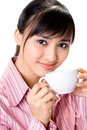 Free Asian Woman Have A Coffee Break Stock Photos - 6740973