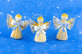 Free Straw Christmas Angels Stock Images - 6746344