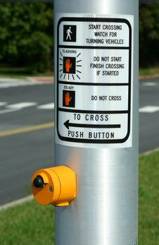 Cross Walk Button Royalty Free Stock Images