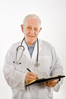 Free Doctor Writing A Prescription Stock Photo - 6740290