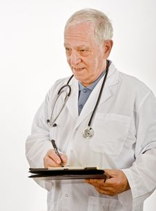 Free Doctor Writing A Prescription Royalty Free Stock Photo - 6740305
